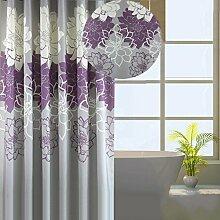 Hochwertiger 100% Polyester wasserdichter Bad Duschvorhang - Extra mit Ring Haken ( Farbe : Lila , größe : 240*200cm )