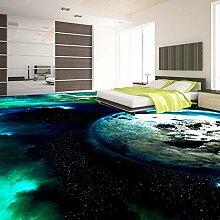 Hochwertiger Bodenaufkleber Universum Tapete wasserdichter Boden Wandbild 150X100cm