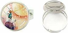 Hochwertiger handgefertigter Ring aus Glas,