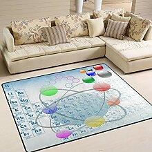 Hochwertiger rechteckiger Teppich für den Innen-