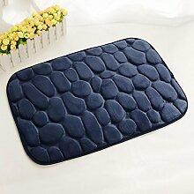 Hochwertiger Teppich, 3D kleiner Stein Flanell geprägter Teppich, rutschfeste saugfähige Matte, Eintritt Fuß Pad , #4 , 38*58cm