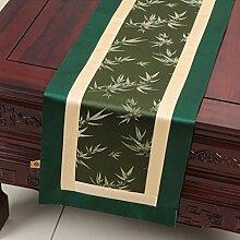 Hochwertiger Tischläufer Grüne Bambus Blätter