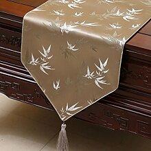 Hochwertiger Tischläufer Hellbrauner Bambus