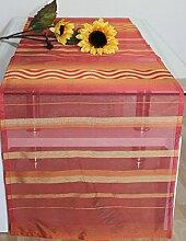 Hochwertiger Tischläufer Wellington Tischdecke Tischband Läufer ca.45 x 180 cm Rot/Gelb
