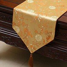 Hochwertiger Tischläufer Yellow Plum Bambus