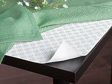 Hochwertiger Tischschoner mit Vliesrücken in Eckig Tischschutz Tischmolton Maße: 125x125 cm