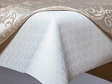Hochwertiger Tischschutz mit Geweberücken in Rund Tischschoner Tischmolton Durchmesser: 128 cm