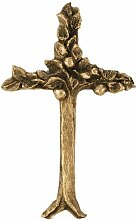 Hochwertiges Bronze Lebensbaum Wand-Kreuz (12 x 19