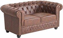 Hochwertiges Chesterfield Sofa 2-Sitzer vintage