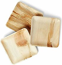 Hochwertiges Palmblatt-Brett, 25 Quadratische