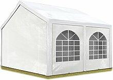 Hochwertiges Partyzelt 4x5 m Pavillon Zelt 240g/m² PE Plane Gartenzelt Festzelt Wasserdicht weiß