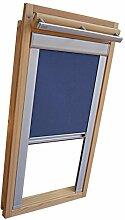 Hochwertiges Verdunkelungsrollo Rollo Thermo blau mit Seitenschienen für Velux DKL-EP GGL,GPL,GHL,GTL PK08 ALU // Verdunkelungsrollo / Verdunkelungs-Rollo / Fensterrollo