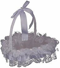 Hochzeit Blumenmädchen Korb Liebe Bowknot Lace