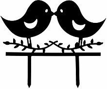 Hochzeit Cake Topper,Love Birds Schwarz Silhouette