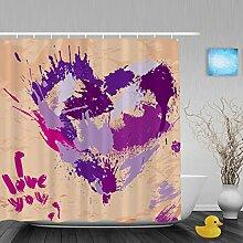 """Hochzeit Decor Badezimmer Duschvorhänge Herz Form handgeschriebene I Love You Pink Geschenk für Valentinstag Wasserdicht Mildewproof Polyester-farbbeständige-152,4x 182,9cm Zoll, Multi1, 66""""""""(Width)x72""""""""(Length)"""