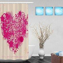 """Hochzeit Decor Badezimmer Duschvorhänge Herz Form handgeschriebene I Love You Pink Geschenk für Valentinstag Wasserdicht Mildewproof Polyester-farbbeständige-152,4x 182,9cm Zoll, Multi4, 36""""""""(Width)x72""""""""(Length)"""