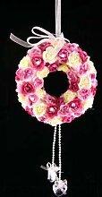 Hochzeit Künstliche Blumen Rose Kranz Bisamapfel hängende Dekoration (Pink) aus GT Decorations
