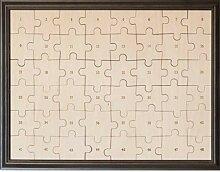 Hochzeit Puzzle zum Bemalen im Bilderrahmen aus