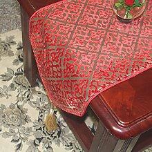 Hochzeit rot Stil Esszimmer Tisch-Tischl?ufer/Couchtisch-Tischl?ufer/Bett-banner-A 30x180cm(12x71inch)