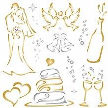 Hochzeit Schablone-wiederverwendbar Groß
