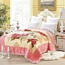 Hochzeit-Stil Blumen/Blumen dicker Polyester Sofadecken-G 175x220cm(69x87inch)