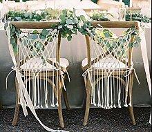 Hochzeit Stuhl Kleiderbügel Makramee Wandbehang