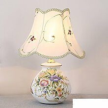 Hochzeit Tischleuchte/Schlafzimmer Bett Lampe/Retro-studie-lampe/Keramik,Stoffe,DIMM Lights/Hochzeit Im Freien Tischleuchte-B