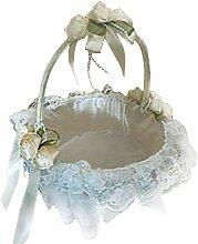 Hochzeits-Blumenmädchen-Korb-elegante Spitze