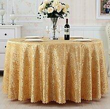 Hochzeits-Restaurant-Bankett-Hotel-runder Tischdecke-Tee-Tischdecke,Gold-diameter160cm