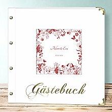 Hochzeitsbuch Zum Ausfüllen, Sophias Garten, 50 Blatt - 100 Seiten, Buch Quadratisch 300x300, Ro