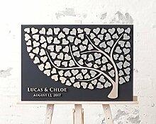 Hochzeitsgästebuch im 3D Baumdesign aus Holz,