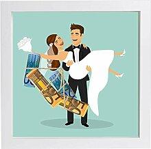 Hochzeitsgeschenk Geldgeschenk Bilderrahmen mit