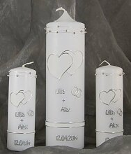 Hochzeitskerze Traukerze Kerze zur Hochzeit 16403