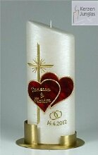 Hochzeitskerze modern Oval, Gold 24/9 cm -1324-