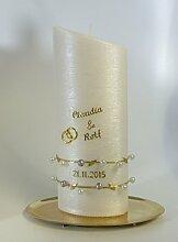 Hochzeitskerze Oval Gold 23/9 cm - 1323 -