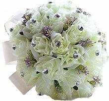 Hochzeitsstrauß Brautstrauß lila künstliche