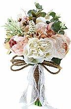 Hochzeitsstrauß Künstliche Rosen Pfingstrosen