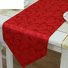 Hochzeitstischflagge/der chinesischen tischdecke/platzdeckchen/haushalt handtuch-Rot 33x183cm(13x72inch)