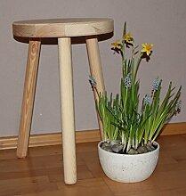 Hocker aus Holz sehr stabil Holzhocker massiv Sitzhocker- rund - Schemel - Dekohocker- Beistelltisch