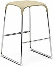 Hocker Bobo Sitzhocker Küchenhocker Designhocker Sitzgelegenheit Küchenstuhl Kunststoff & Metallbeine Infiniti, Farbe:Gestell Chrom mit Sitzfläche Weiß