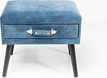 Hocker Drawer Blau