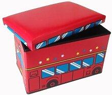 Hocker Fire Truck Faltbarer Original GMMH Spielzeugbox Spielzeugtruhe Spielzeugkiste AufbewahrungsboxSitzhocker faltbar