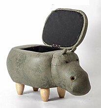 Hocker Holz Fußhocker Kreative Nilpferd Schuhe