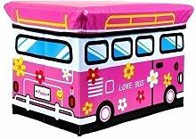 Hocker Love Bus Faltbarer Original GMMH Spielzeugbox Spielzeugtruhe Spielzeugkiste AufbewahrungsboxSitzhocker faltbar