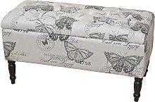Hocker  mit Stauraum Schmetterling Design