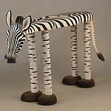 Hocker Niedriger Hocker Massivholz, Hand Carving Animal Zebra Für Change Schuh Hocker Home Decorations
