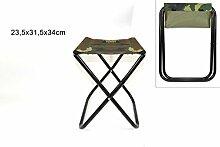 Hocker piegevole Militärische Farbe 34cm ideal für PIC NIC