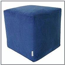 Hocker Puff Pouf Puf 43x 43x 43Mikrofaser blau abnehmbar waschbar Innenausstattung hoher Dichte beschichtet in Watte leicht und komfortabel streng Weich zum Ausprobieren