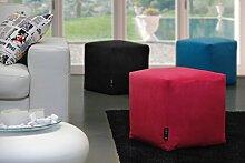 Hocker Puff Pouf Puf 43x 43x 43Mikrofaser Fuchsie abnehmbar waschbar Innenausstattung hoher Dichte beschichtet in Watte leicht und komfortabel streng Weich zum Ausprobieren