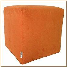 Hocker Puff Pouf Puf 43x 43x 43Mikrofaser orange abnehmbarer Bezug waschbar Innenausstattung hoher Dichte beschichtet in Watte leicht und komfortabel streng Weich zum Ausprobieren